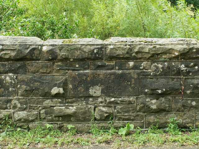 Inscribed stone on Kayshouseburn Bridge