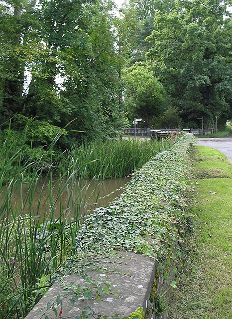 Stream and bridge, Tibberton