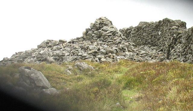 Summit cairn on ridge