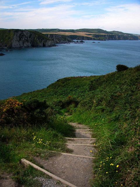 Coast path Dinas Island