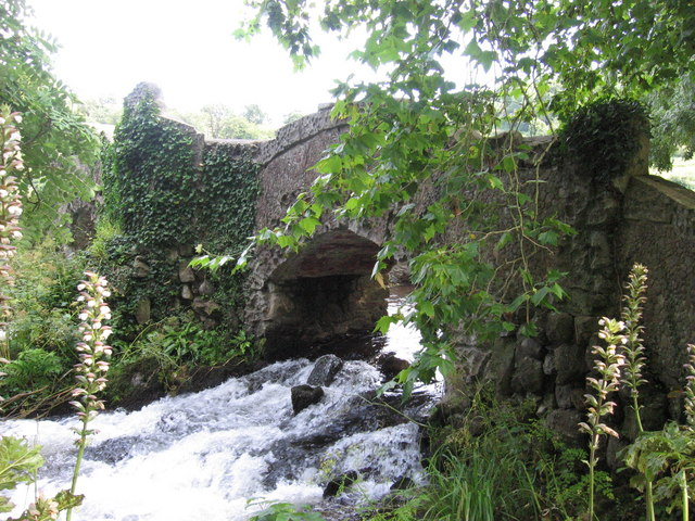 Lovers' Bridge near the watermill