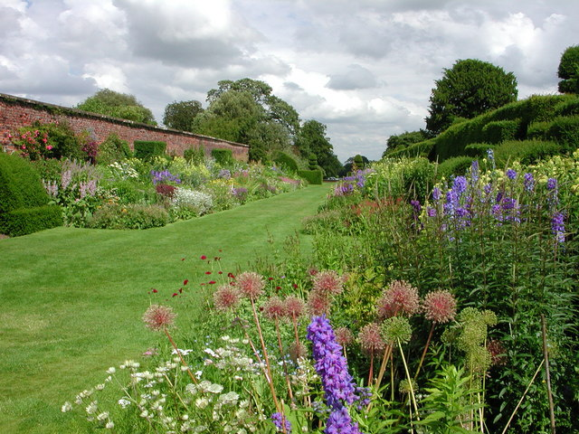 Arley Hall:  the herbaceous border