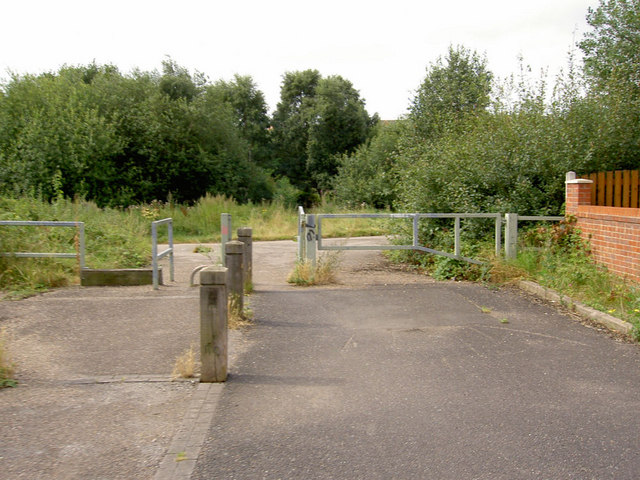 Access point to Trans Pennine Trail.