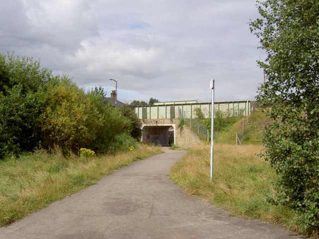 Stoneyford Road bridge over Trans Pennine Trail.