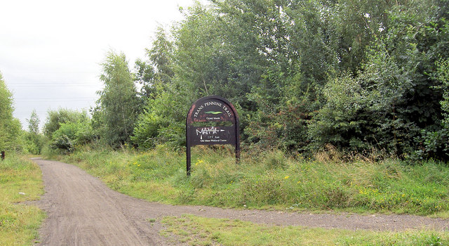 Junction of Trans Pennine Trail and Elsecar Greenway.