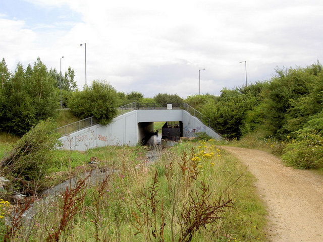 A633 Manvers road bridge over Trans Pennine Trail.