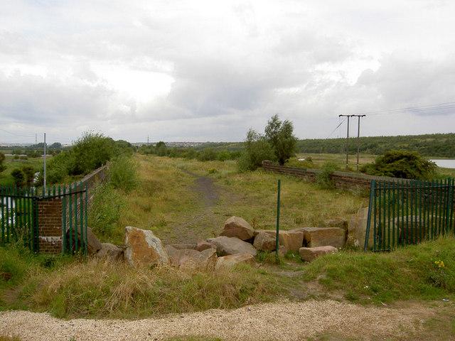 Disused railway line.