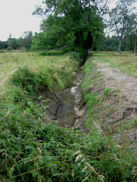 Draining a low-lying area near Swannington Hall