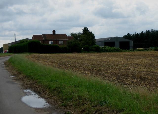 Church Farm next to broken stubble
