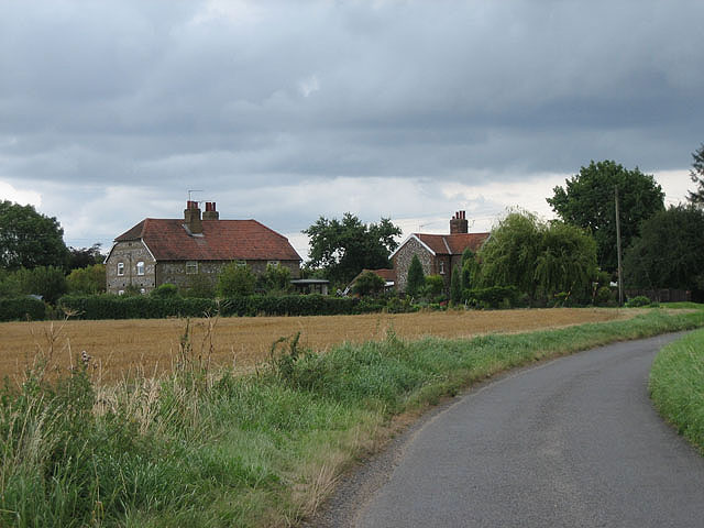 Traditional houses on the way into Sparham