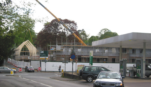 Building site of The Grange retirement apartments, Bramley