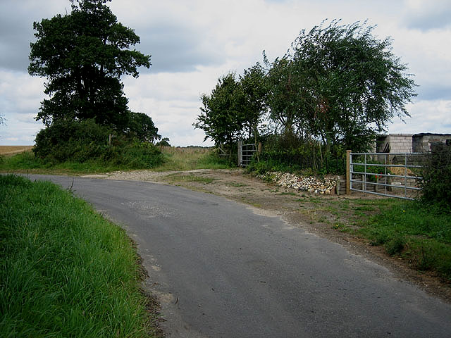 Where Green Lane bends into Furze Lane, Wood Norton