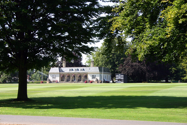 Cricket pitch and Pavilion, Stowe School