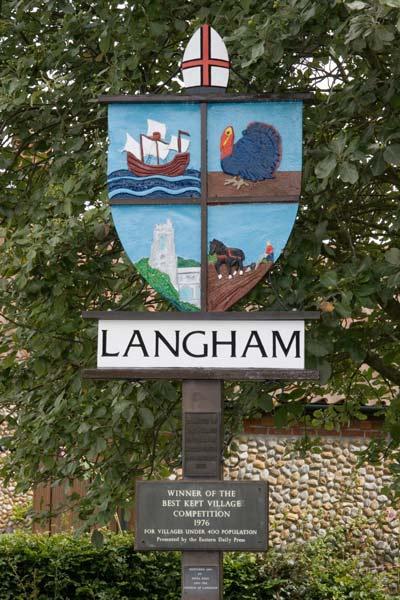 Langham Village Sign