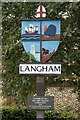 TG0141 : Langham Village Sign by Charles Greenhough