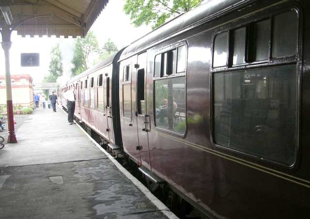 Railway Carriages on Steam Train 'Leander'