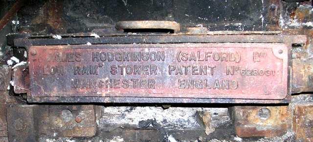 Grane Mill - Plate on Boiler
