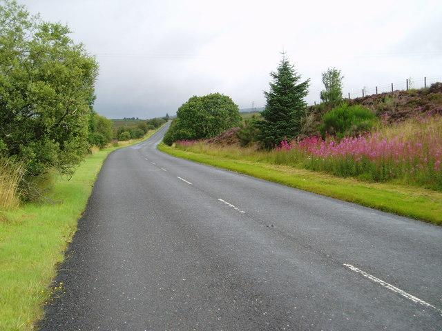 A713 Castle Douglas-Ayr Road near Lamford.