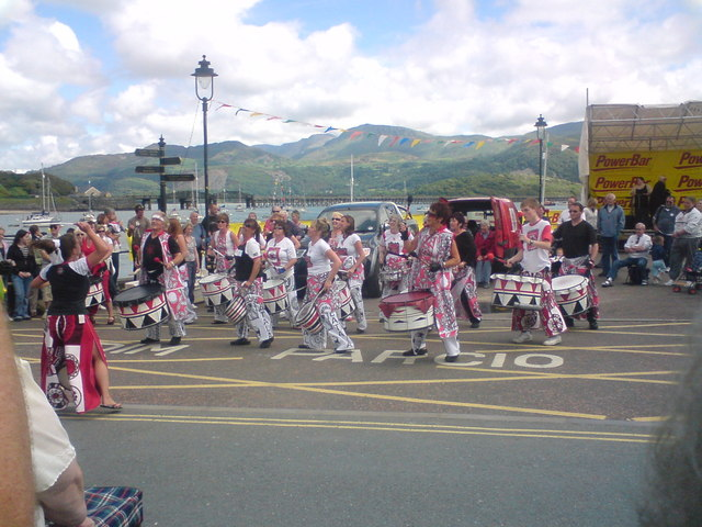 Batala Drummers at Barmouth Harbour