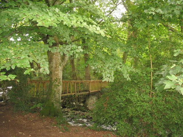 Footbridge over Afon 'Sgethin