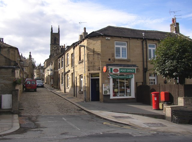 Church Street and the Post Office, Honley