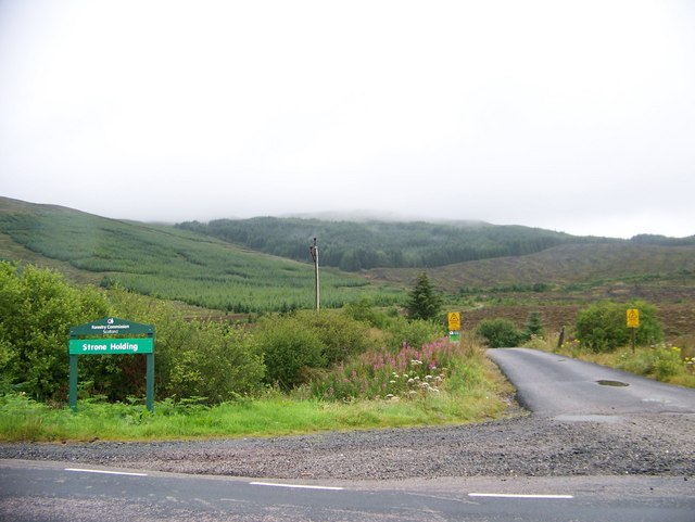 Forestry Commission Road to Strone Holding off the A886