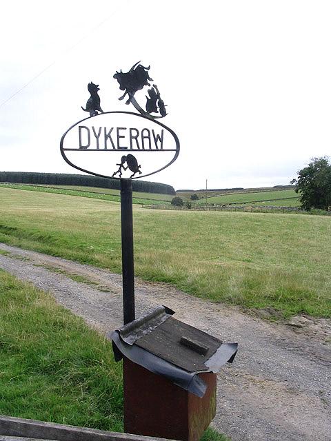 Dykeraw Farm sign