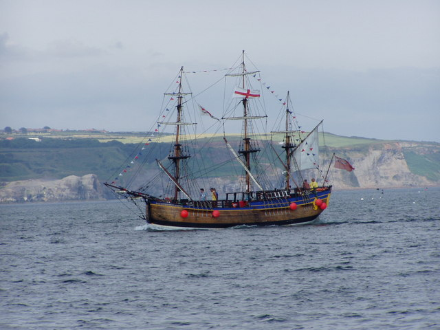 Galleon in Whitby Waters