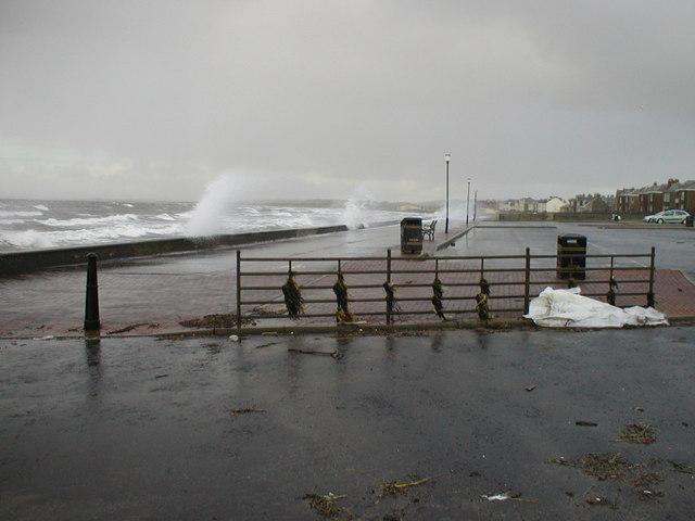 A Bit Rough near  Prestwick Sailing Club