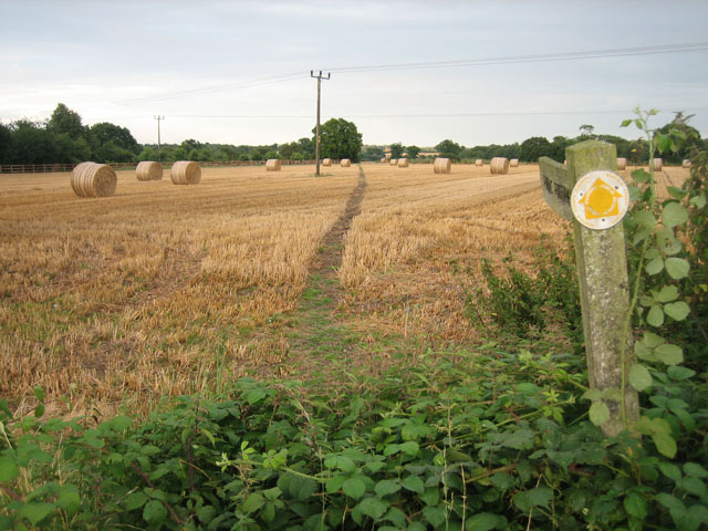 Cross-field path through the stubble to Oulton