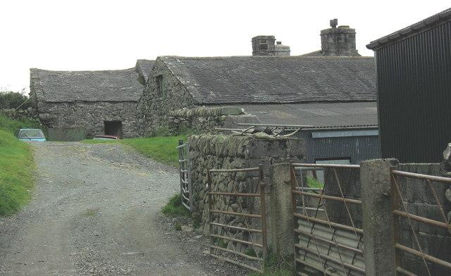 Traditional farm buildings at Eithin Fynydd
