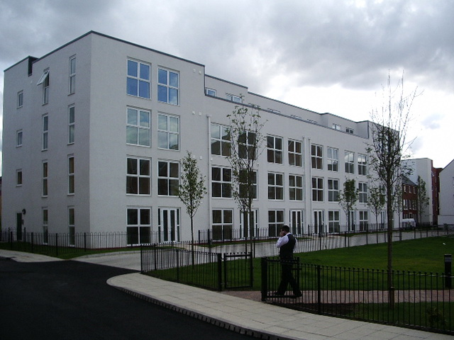 The south side of Broughton Green Square, Salford