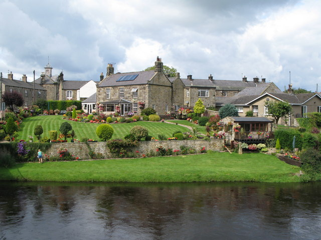 Houses in Wark above the River North Tyne