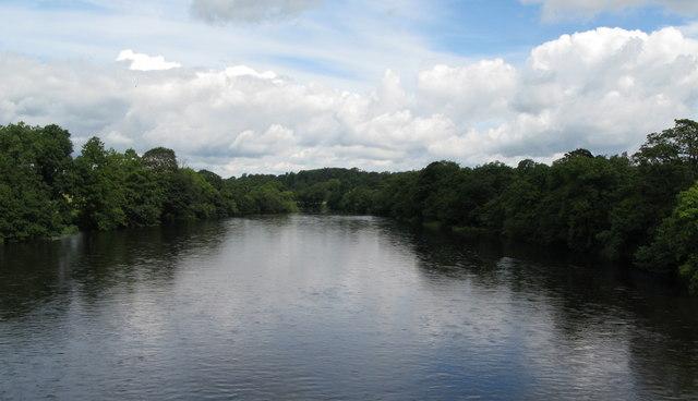The River North Tyne north of Wark Bridge