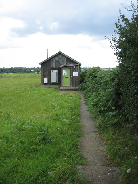 This unassuming hut is a telephone exchange