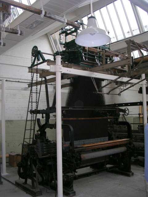"""Queen Street Mill - Hattersley's """"Standard"""" Model Jaquard Loom"""