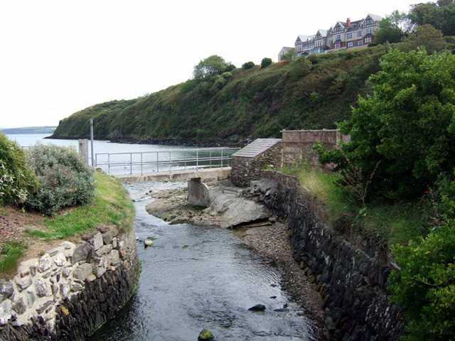 The mouth of Goodwick Brook