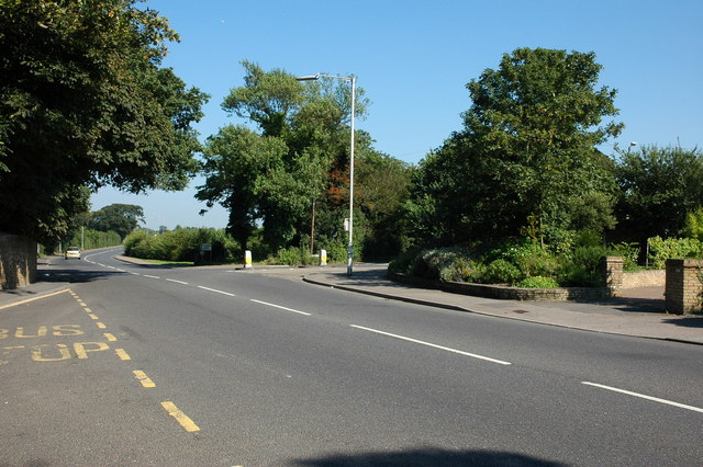 Road junction at Northdown