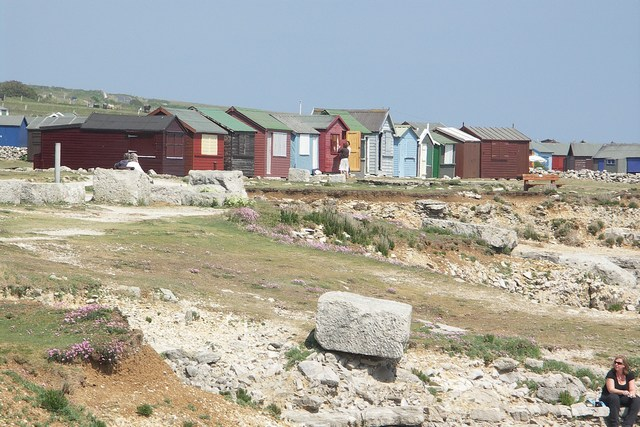 Beach Huts at Portland Bill