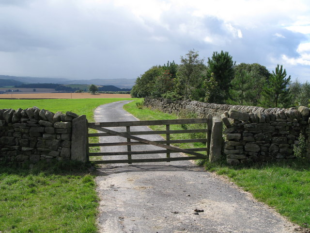 Gated road near Written Crag