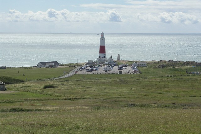 Lighthouse and Car Park at Portland Bill