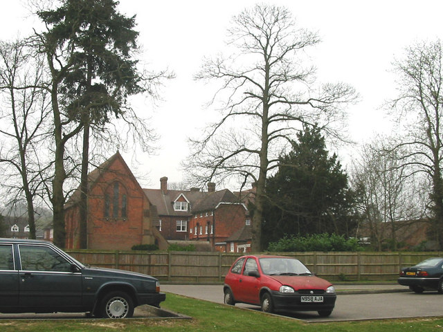 St Catherine's School as seen from the old railway station in Bramley