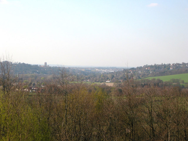 View of Guildford from Chinthurst Hill