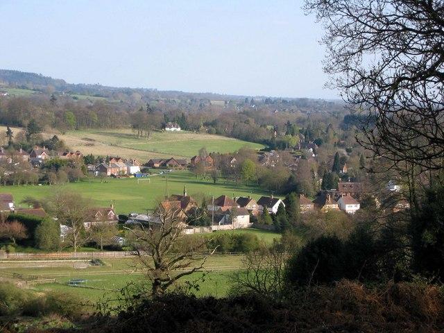 Wonersh from Chinthurst Hill