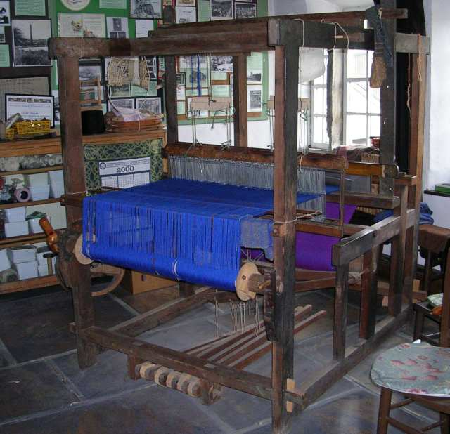 Four Post Loom in Weaver's Cottage