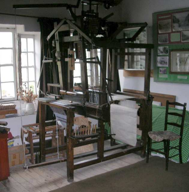 Flying Shuttle Loom in Weaver's Cottage Museum
