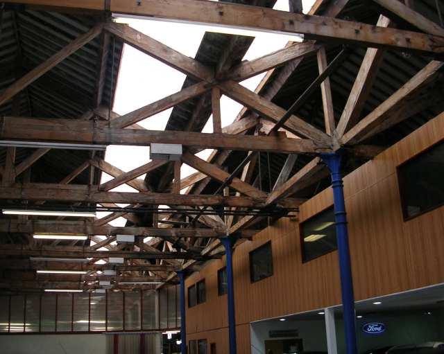 Roof inside Goods Depot - Rawtenstall Railway Station