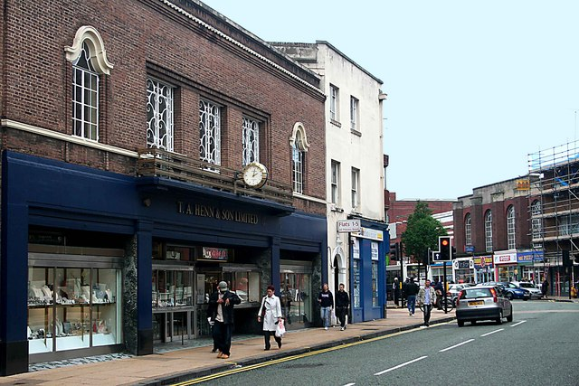 Looking  south along Princess St. ,Wolverhampton