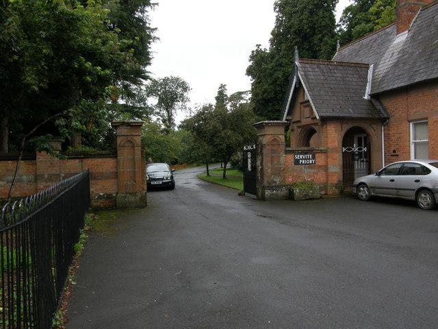 Entrance to Servite Priory,  Benburb