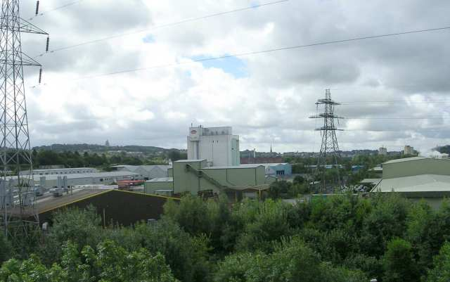 Industrial Site viewed from Lune Aqueduct